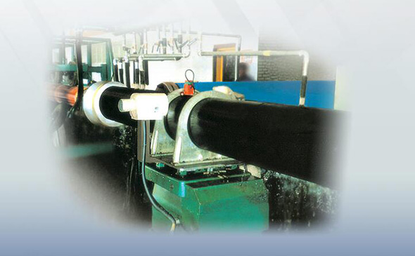 Polyurethane thermal insulation pipe production line