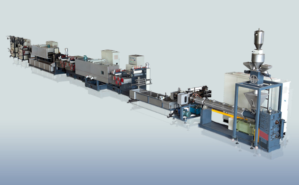 Eco-model PET strapping extrusion line